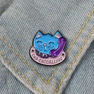 3 for $30 End Cat Calling Enamel Pin